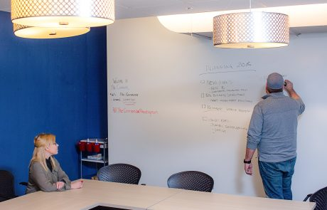 Big whiteboard - The Commons | Co-Working Space - Hopkins and Excelsior